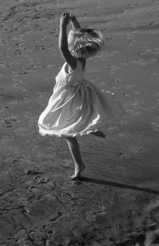 girl twirling